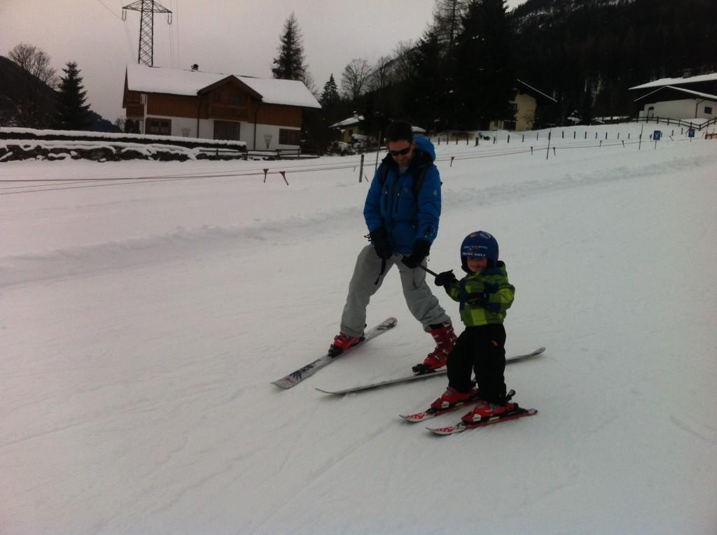 zelf skiën met kinderen